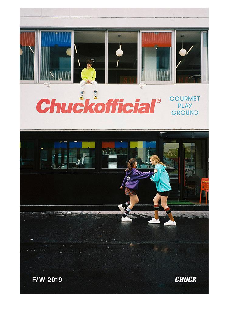척(CHUCK) 19FW 3C 로고 스웨트셔츠 (블랙)