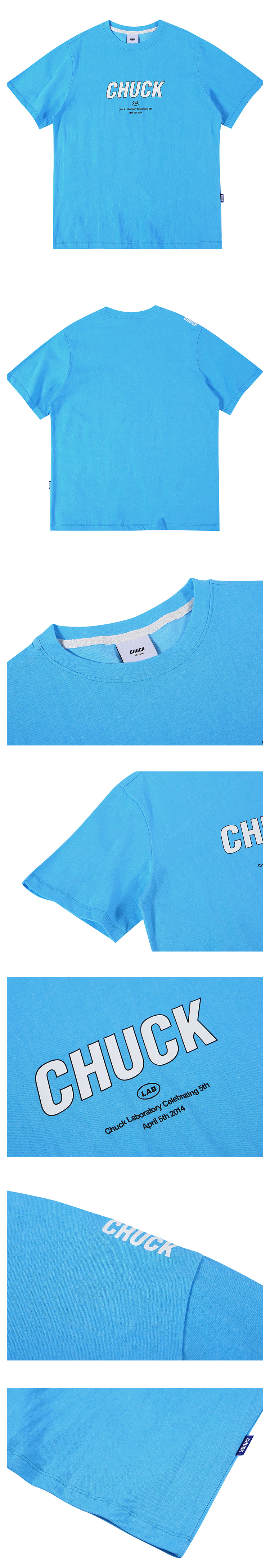 척(CHUCK) 19 SUMMER 척랩 로고 티셔츠 (스카이)