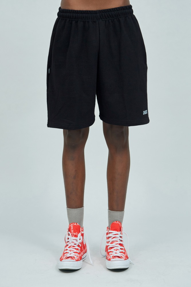 19 SUMMER CHUCK LOGO SWEAT SHORTS (BLACK)