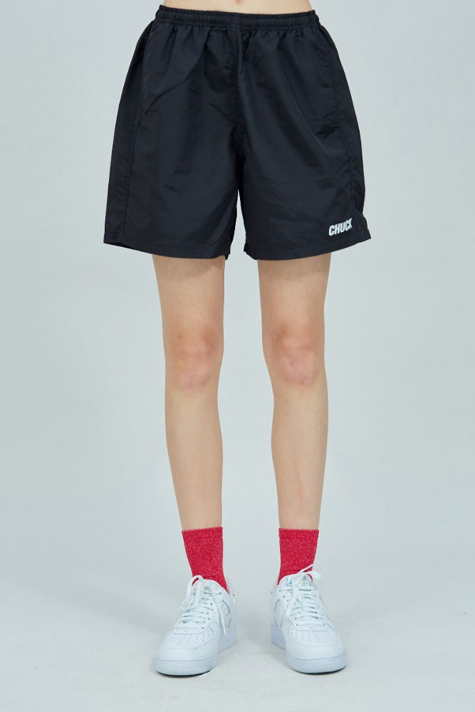 19 SUMMER CHUCK LOGO SHORTS (BLACK)