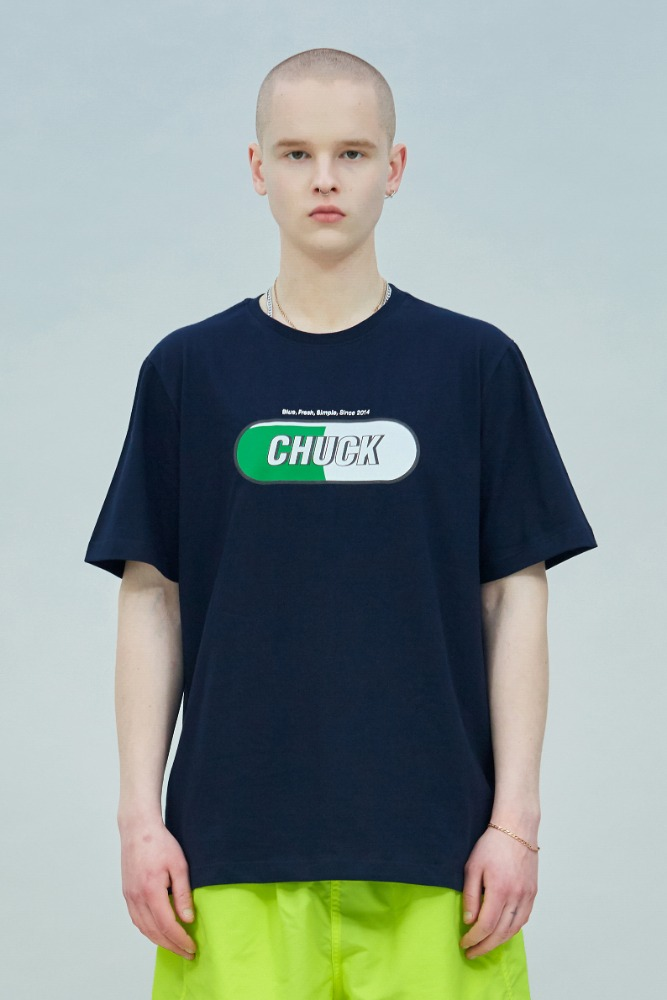 19 SUMMER CHUCK SIGNATURE LOGO T-SHIRT (NAVY)
