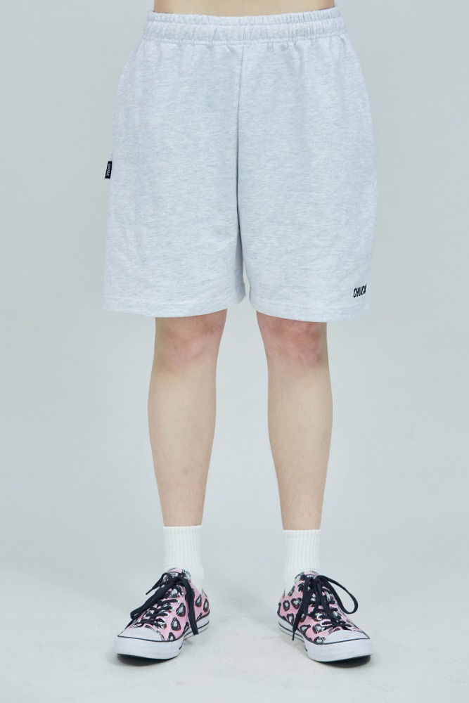 19 SUMMER CHUCK LOGO SWEAT SHORTS (LIGHT GRAY)