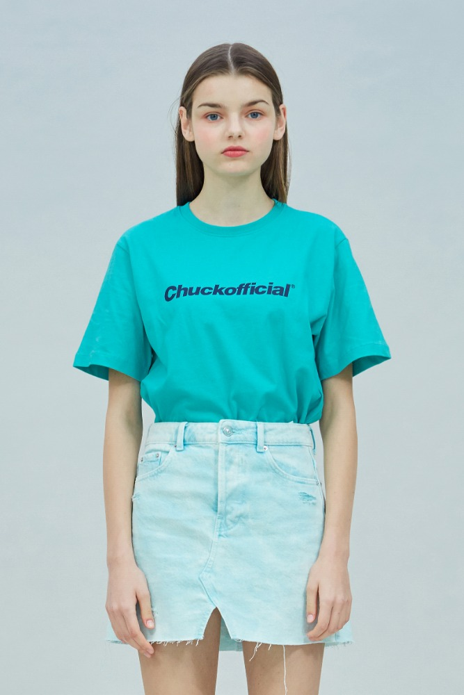 19 SUMMER CHUCKOFFICIAL LOGO T-SHIRT (EMERALD GREEN)