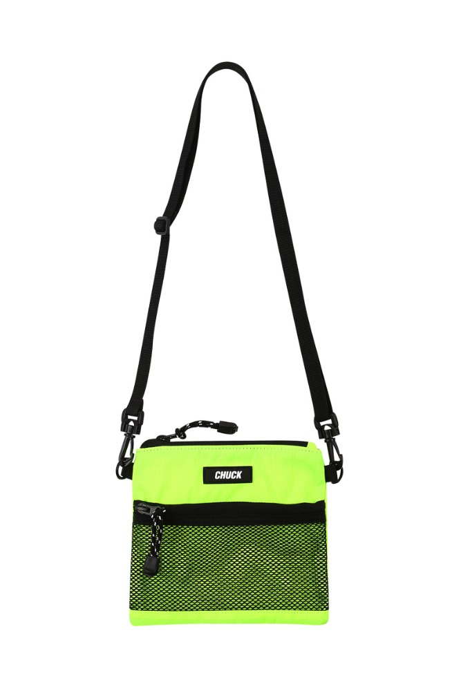 19 SUMMER CHUCK MINI POUCH BODY CROSS BAG (NEON YELLOW)