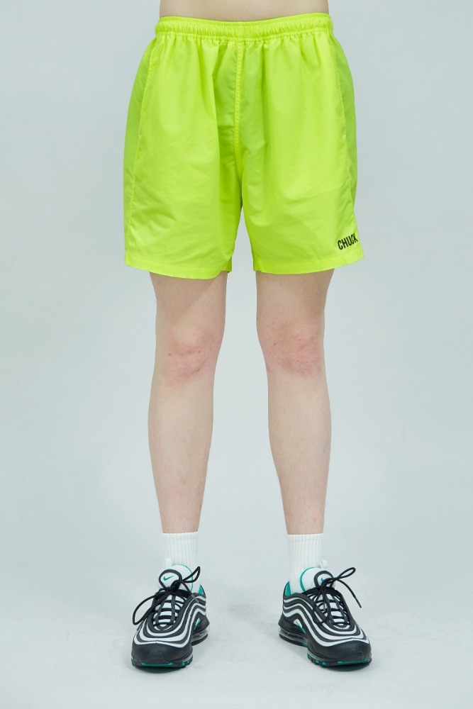 19 SUMMER CHUCK LOGO SHORTS (NEON YELLOW)