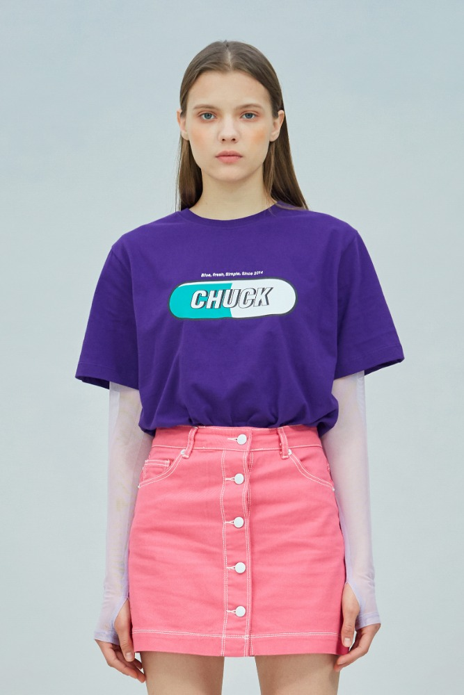 19 SUMMER CHUCK SIGNATURE LOGO T-SHIRT (PURPLE)