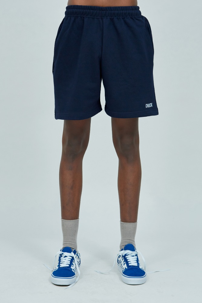 19 SUMMER CHUCK LOGO SWEAT SHORTS (NAVY)