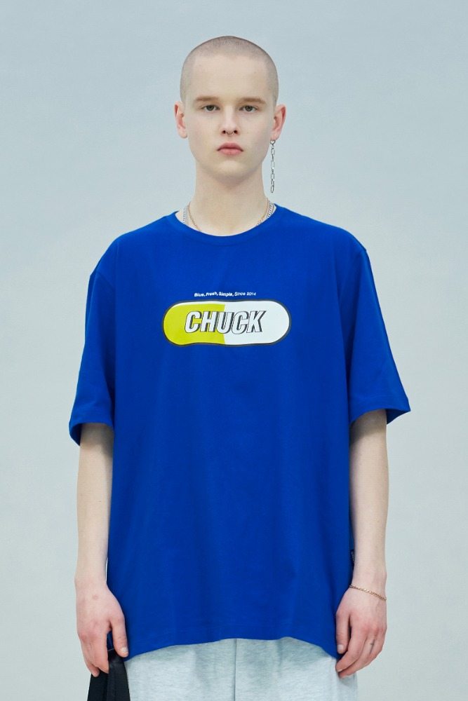 19 SUMMER CHUCK SIGNATURE LOGO T-SHIRT (BLUE)