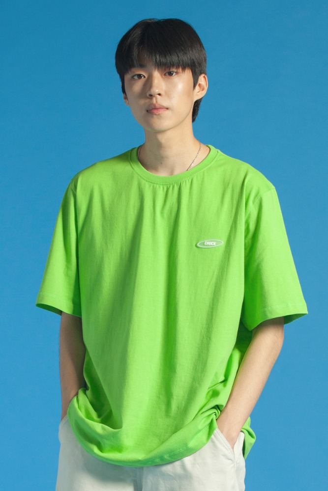 19 SUMMER CHUCK RUBBER LABEL T-SHIRT (GREEN)