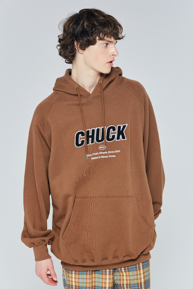 19FW CHUCK SIGNATURE LOGO HOODIE (BROWN)