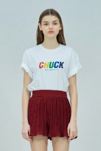 19 SUMMER CHUCK RAINBOW LOGO T-SHIRT (WHITE)