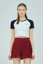 19 SUMMER CHUCK RAGLAN CROP T-SHIRT (WHITE-BLACK)