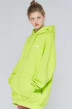 19FW CHUCK RUBBER LABEL HOODIE (LIME)