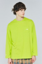19FW CHUCK POCKET L-S T (LIME)